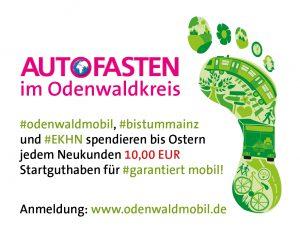 Autofasten im Odenwaldkreis – OREG kooperiert mit dem Bistum Mainz und der Evangelischen Kirche in Hessen und Nassau