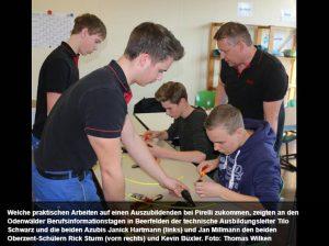 20 Betriebe präsentieren sich bei den Odenwälder Berufsinformationstagen an der Oberzent-Schule