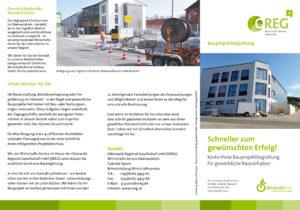 Neuer Flyer informiert über Projektbegleitung  für gewerbliche Bauvorhaben