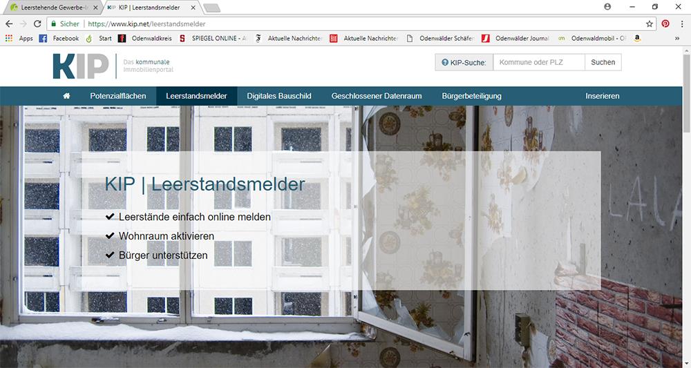 Leerstehende Gewerbe-Immobilien in Oberzent jetzt an OREG melden