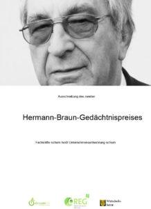 Ausschreibung des zweiten Hermann-Braun-Gedächtnispreises
