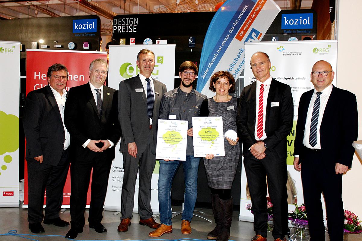 Preisverleihung im Gründerwettbewerb  Bergstraße-Odenwald