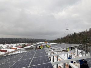 Start für 2,1 Megawatt- Photovoltaikanlage  im Hainhaus