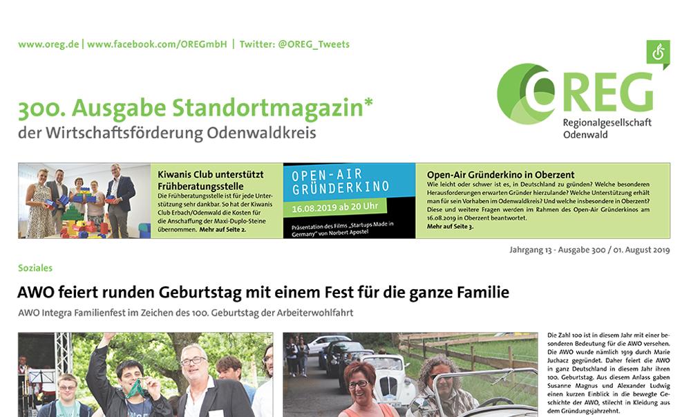 300. Ausgabe Standortmagazin Odenwaldkreis
