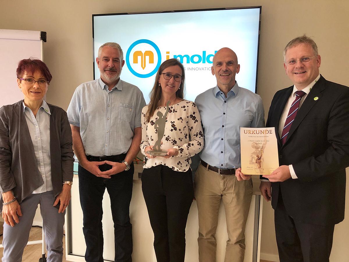 Großer Preis des Mittelstandes 2019 der  Oskar-Patzelt-Stiftung geht an die i-mold GmbH  & Co. KG in Erbach