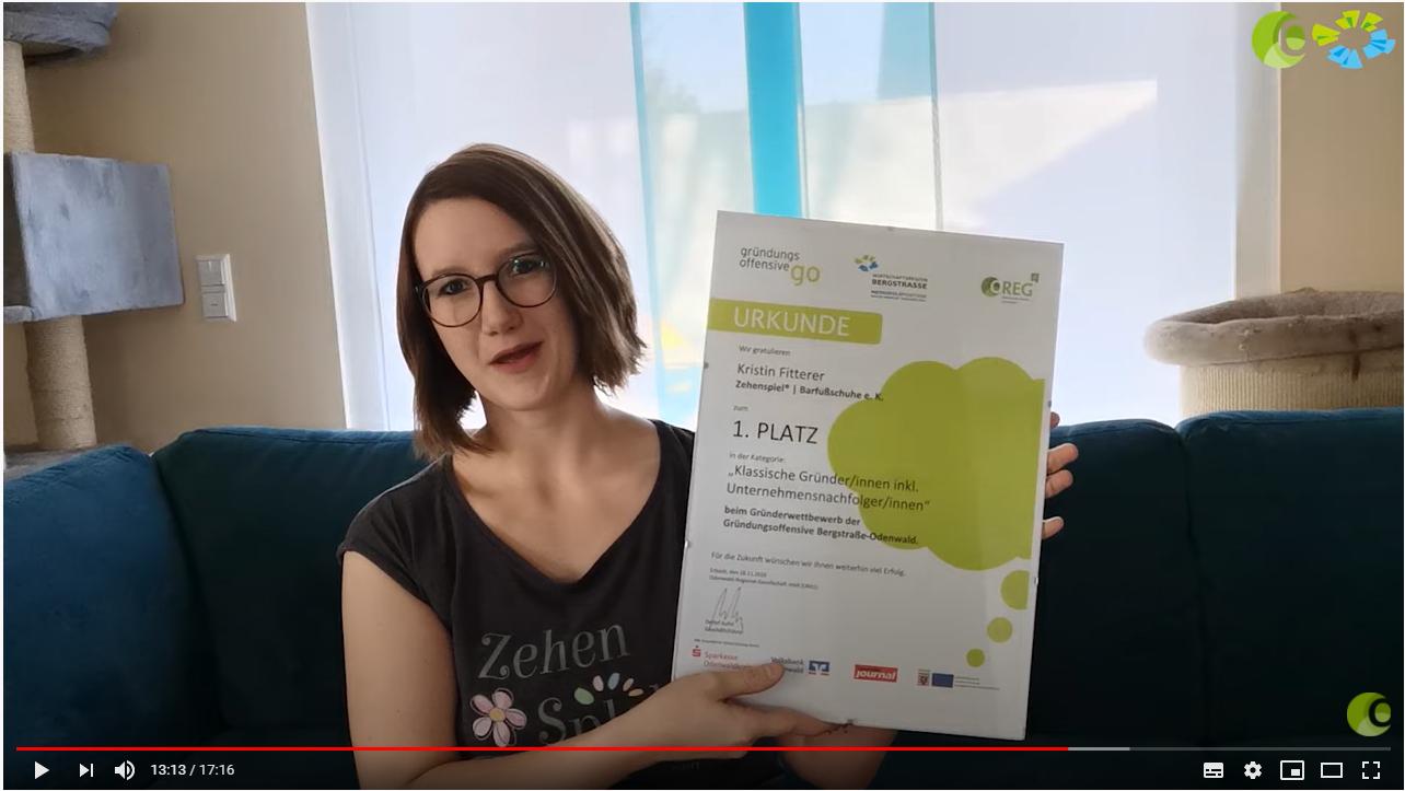 Die Preisverleihung zum 11. Gründerwettbewerb Bergstraße/Odenwald fand in diesem Jahr virtuell statt